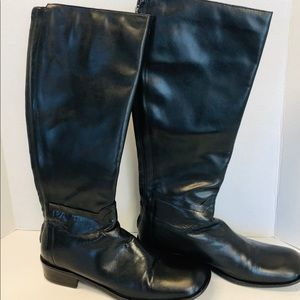 BCBG Tall Leather Black Boots